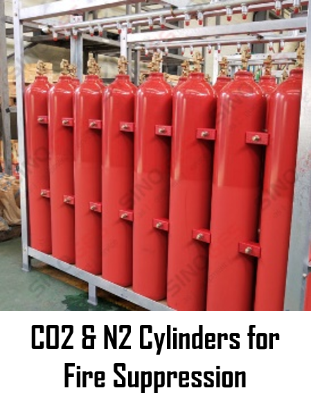 Sinoges Products - CO2 & N2 Cylinders for Fire Suppression