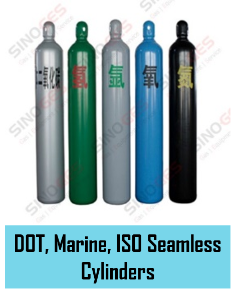 Sinoges Products - DOT, Marine, ISO Seamless Cylinders