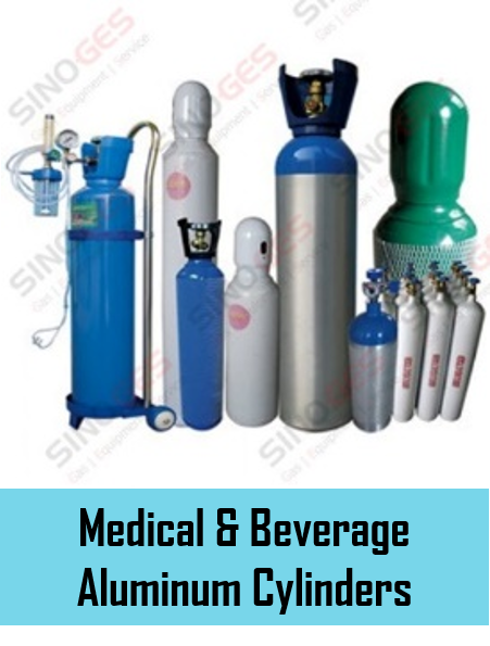 Sinoges Products - Medical & Beverage Aluminum Cylinders