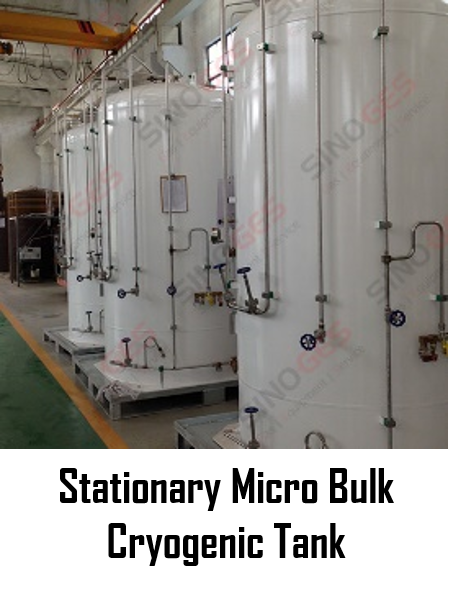 Sinoges Products - Stationary Micro Bulk Cryogenic Tank
